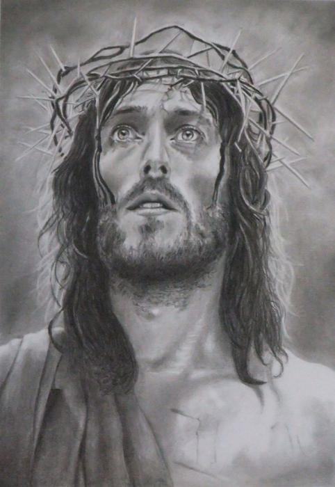 portrait of jesus christ by mikeoc on stars portraits